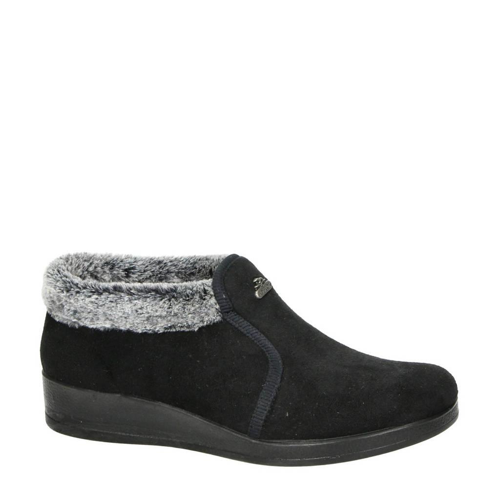 Fly Flot pantoffels zwart/grijs, Zwart