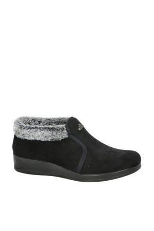 pantoffels zwart/grijs