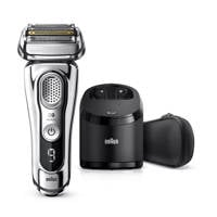 Braun  Series 9 9395CC Chrome Wet & Dry scheerapparaat + Clean & Charge station, -