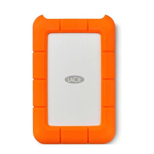 LaCie Rugged USB-C USB Type-C 3.1 (3.1 Gen 2) 4000GB Oranje, Zilver
