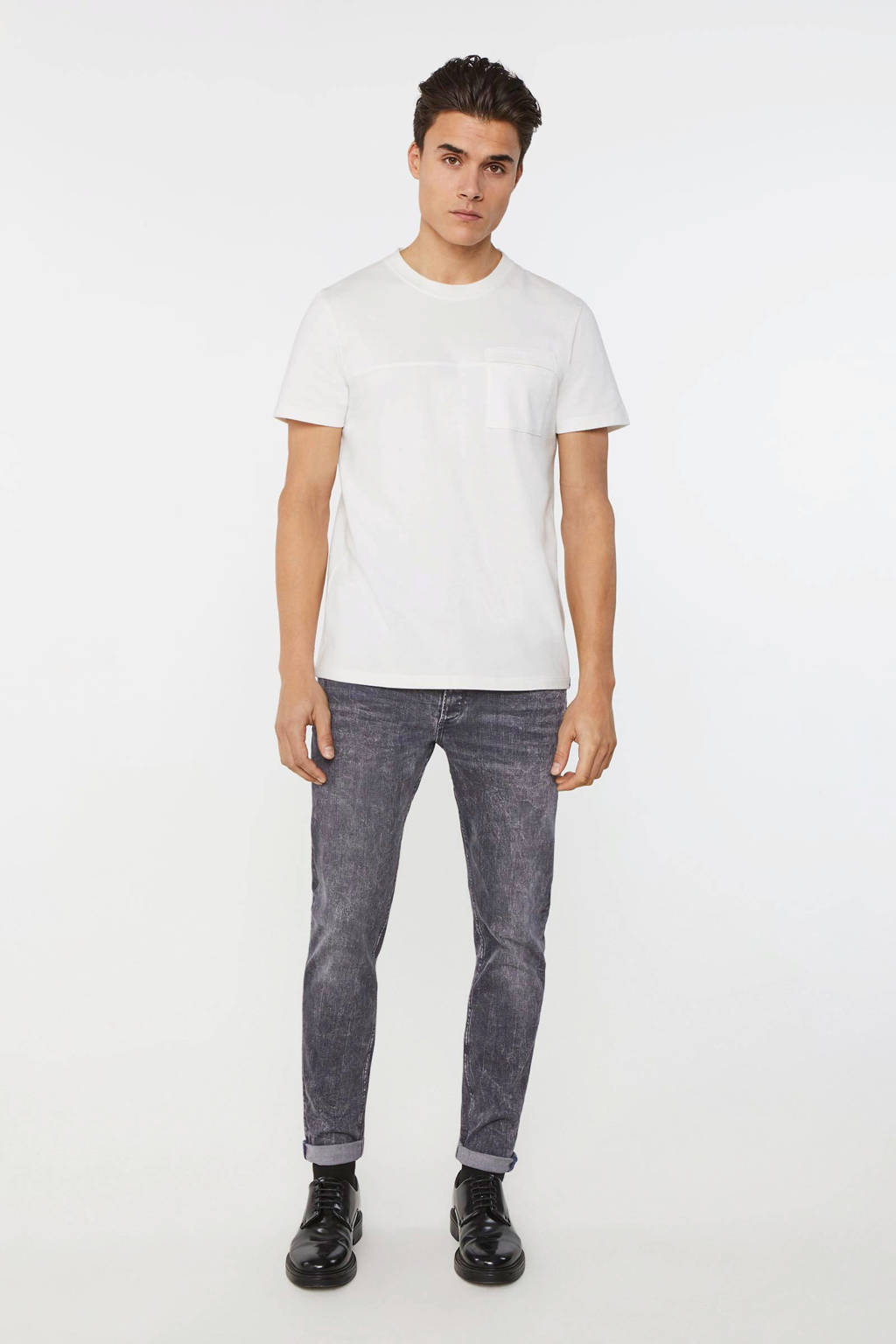 WE Fashion Blue Ridge skinny jeans grey denim, Grey denim