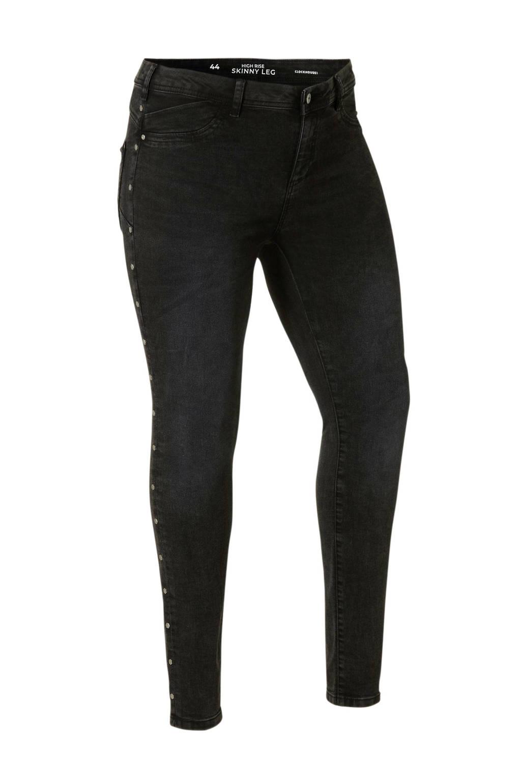 C&A XL Clockhouse slim fit jeans, Zwart