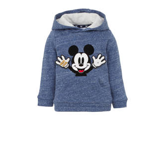 Disney @ C&A baby Mickey Mouse hoodie met printopdruk en 3D applicatie blauw