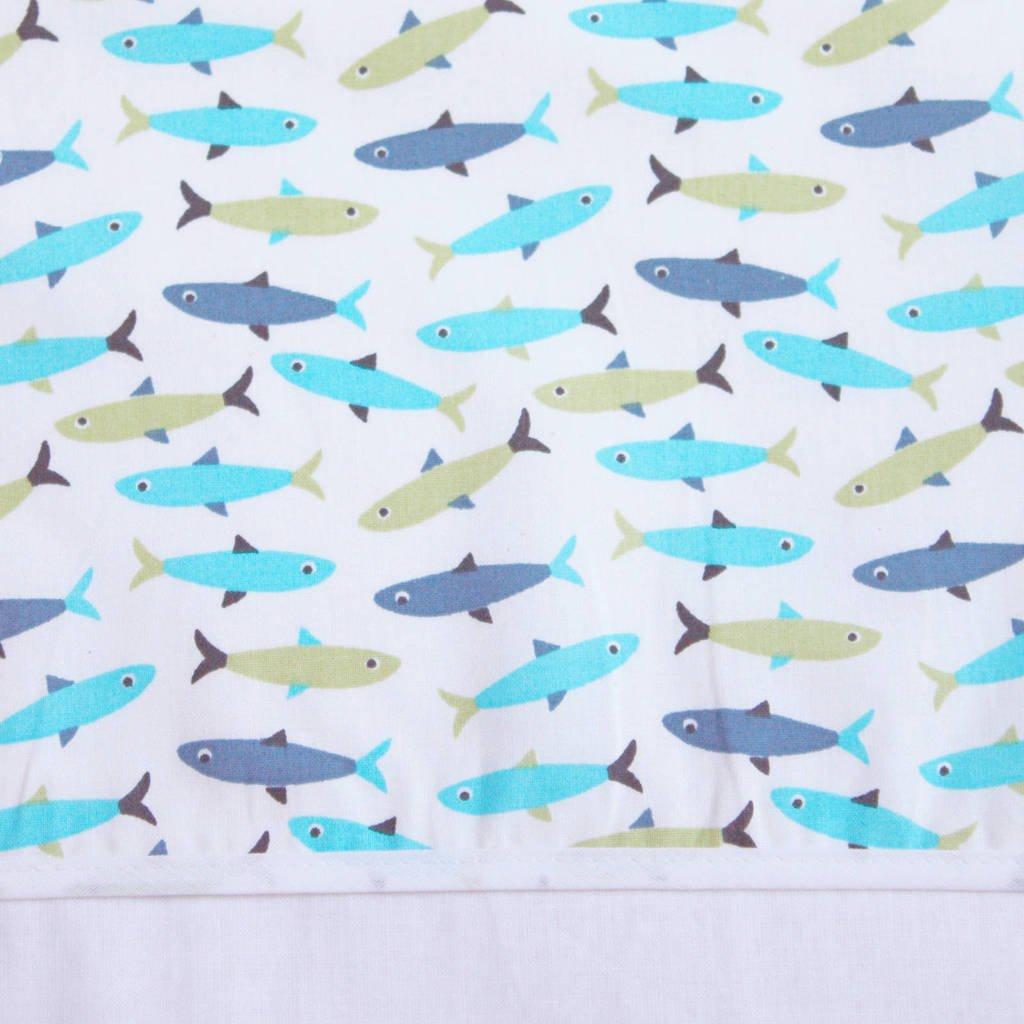 BINK Bedding baby wieglaken 75x100 cm forel blue, Forel Blue