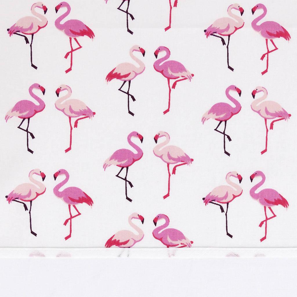 BINK Bedding ledikantlaken 100x150 cm flamingo, Flamingo