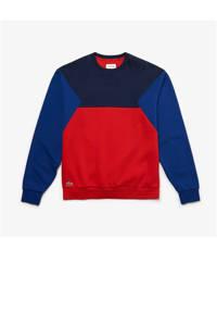 Lacoste   sweater donkerblauw/rood/blauw