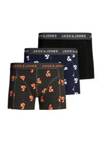JACK & JONES boxershort (set van 3), Zwart/marine/oranje