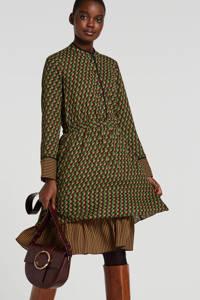 Scotch & Soda jurk met all over print groen/bruin/rood, Groen/bruin/rood