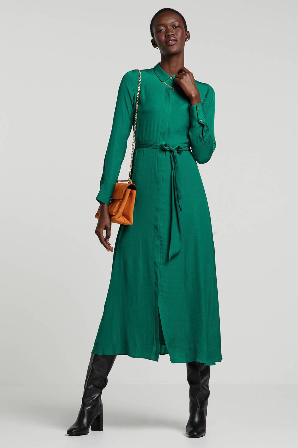 Scotch & Soda maxi blousejurk met ceintuur groen, Groen