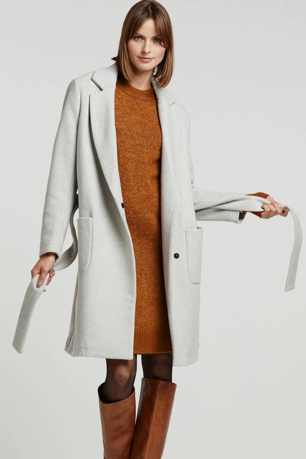 Scotch & Soda coat met wol grijs, Grijs