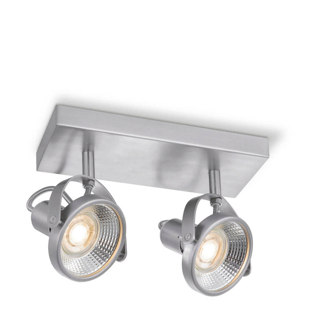 home sweet home LED opbouwspot (2 lampen), Zilver