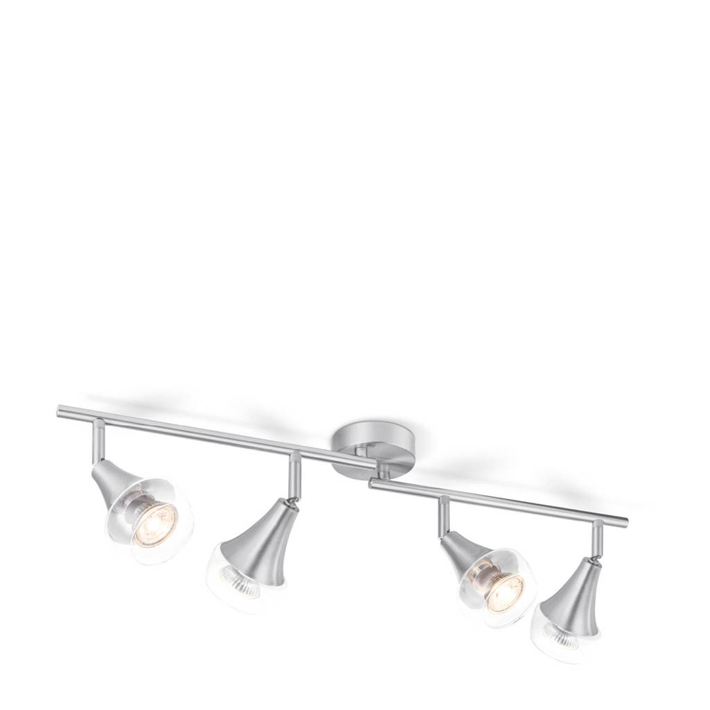 home sweet home LED opbouwspot (4 lampen), Zilver