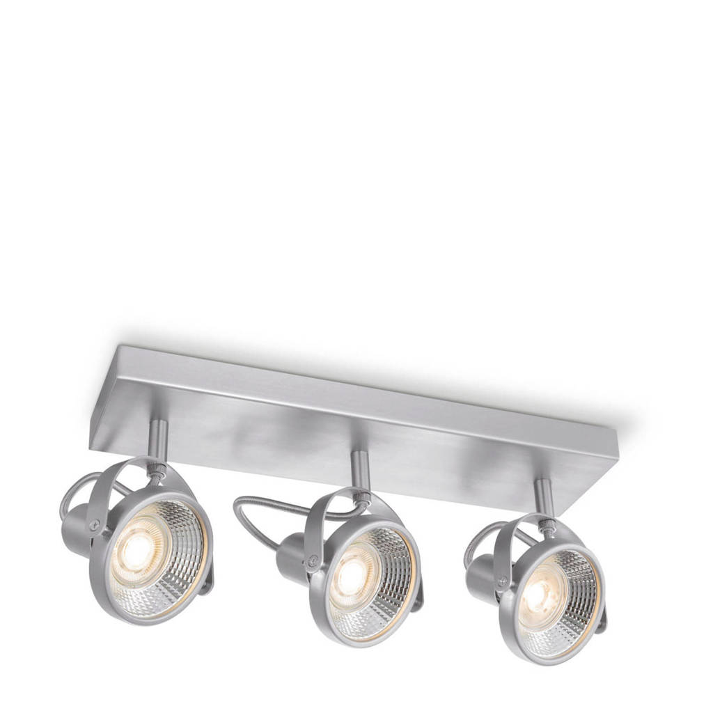home sweet home LED opbouwspot (3 lampen), Zilver
