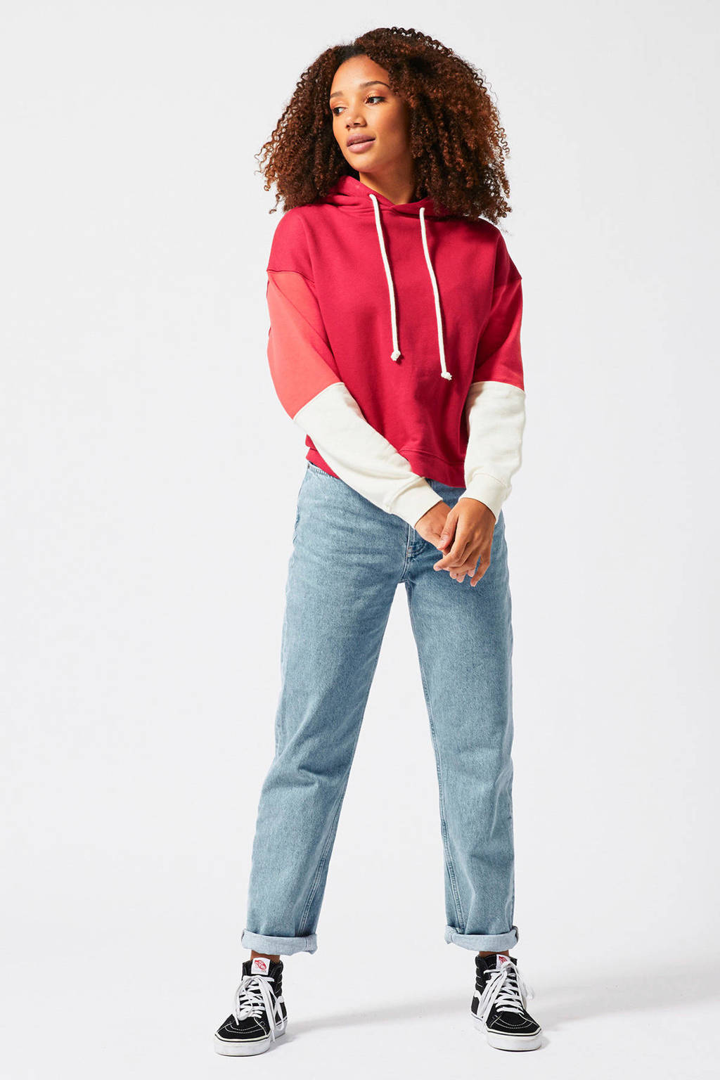 America Today hoodie rood/roze/wit, Rood/roze/wit
