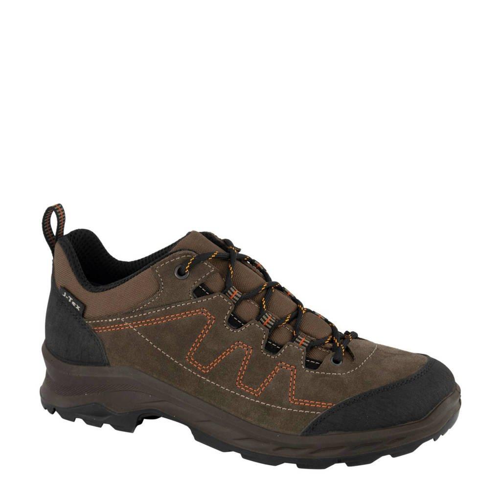 Landrover   suède wandelschoenen bruin, Bruin/zwart