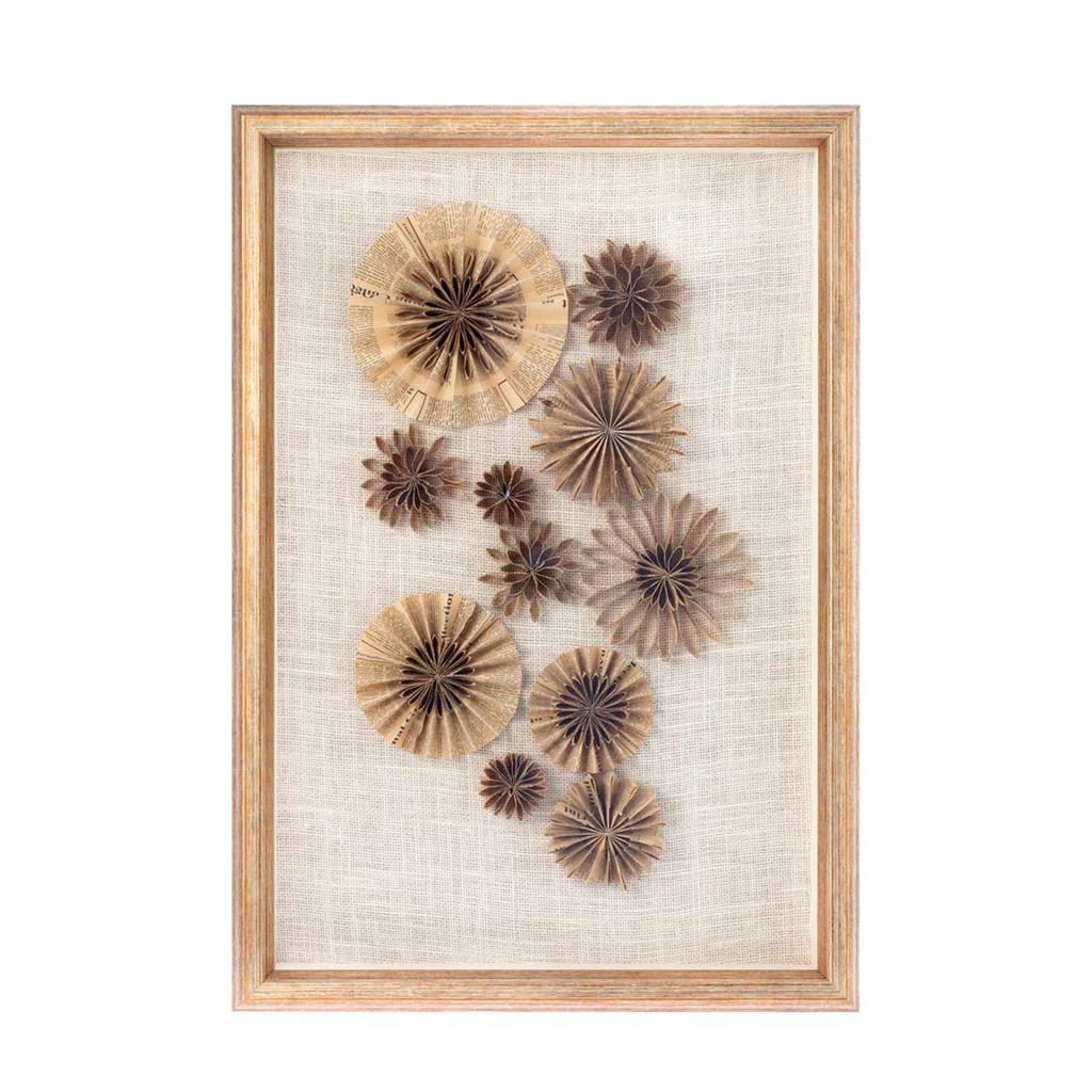Riverdale schilderij Paper (45x65 cm), Goud