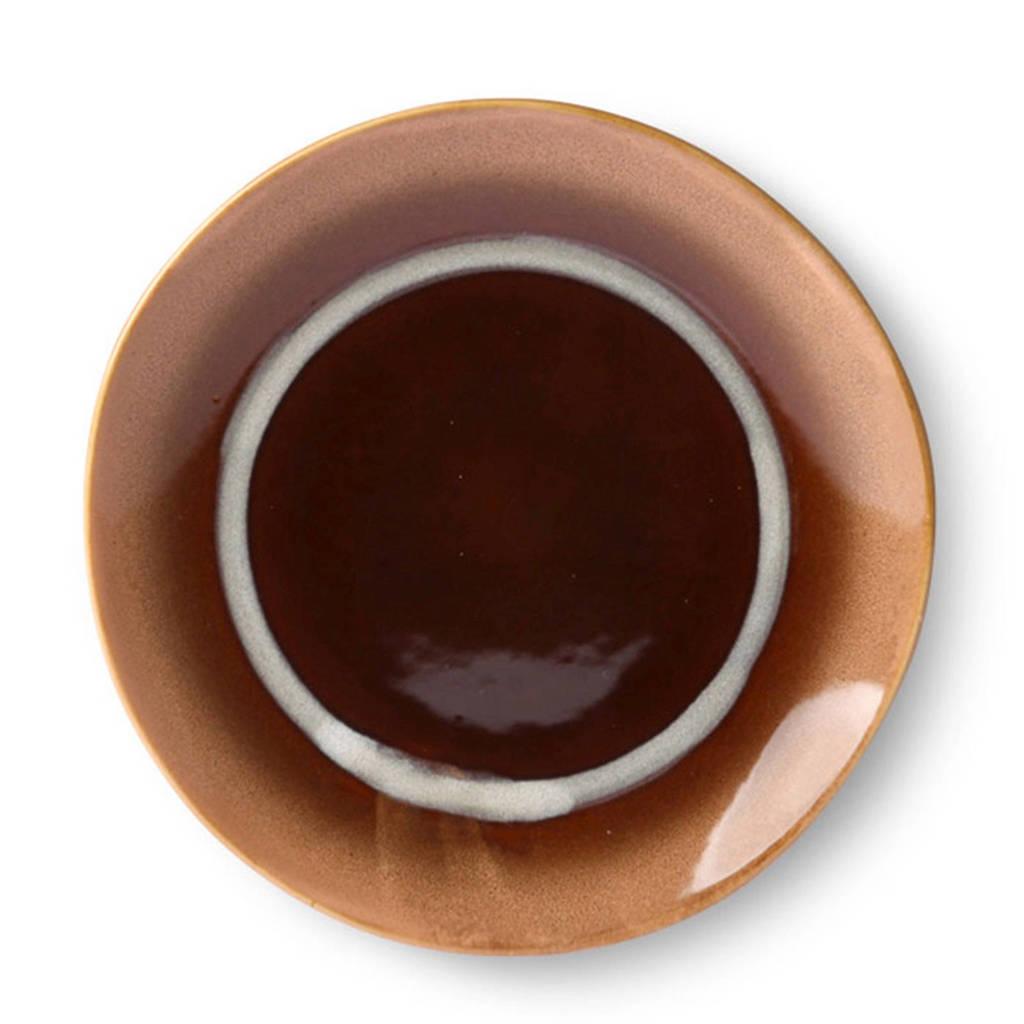HKliving 70's gebaksbordje (Ø17,5 cm), Bruin