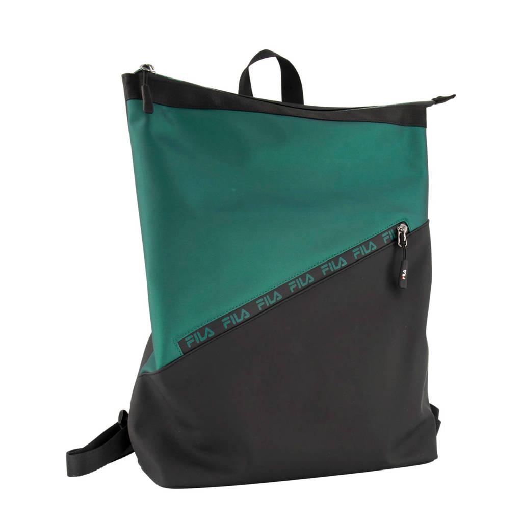 Fila   rugzak zwart, Zwart/groen