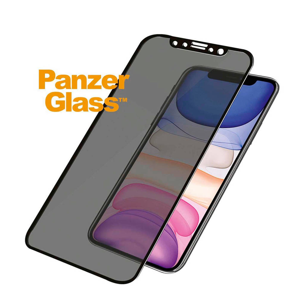 PanzerGlass screenprotector iPhone XR/11 Privacy filter, Transparant/zwart