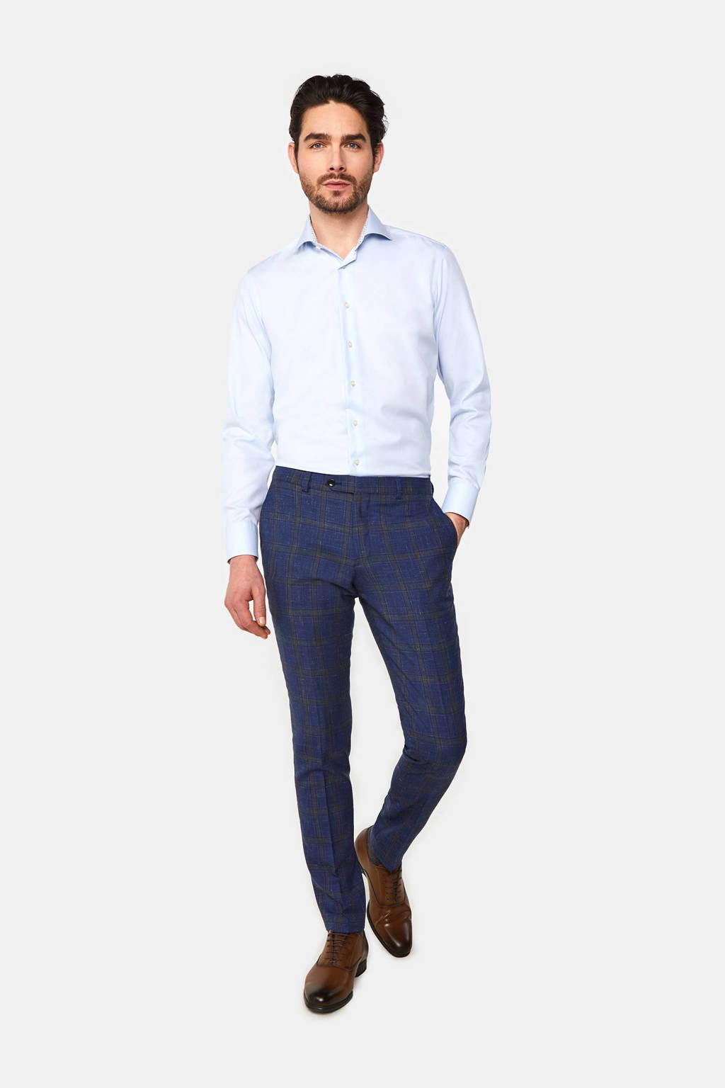 WE Fashion Van Gils slim fit overhemd light blue, Super Light Blue, Uni