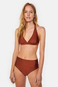 WE Fashion halter bikinitop bruin, Pumpkin Red