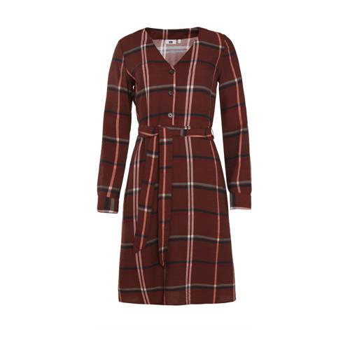 WE Fashion geruite jurk bruin