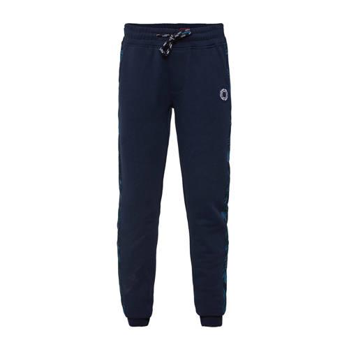 WE Fashion slim fit broek met zijstreep donkerblau