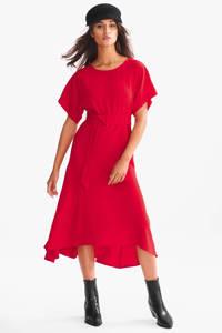 C&A jurk met ceintuur rood, Rood