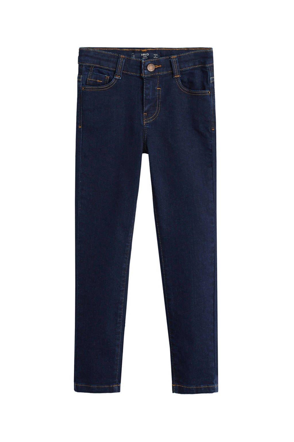 Mango Kids straight fit jeans dark denim, Dark denim