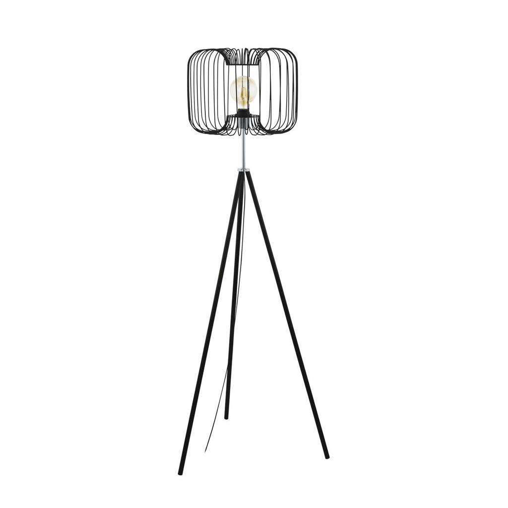 EGLO vloerlamp Corsavy, Zwart, Chroom
