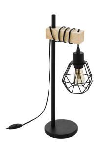 EGLO tafellamp Townshend 5, Zwart/bruin