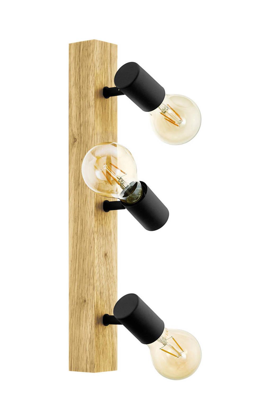 EGLO wandlamp Townshend 3 3-lichts, bruin, zwart