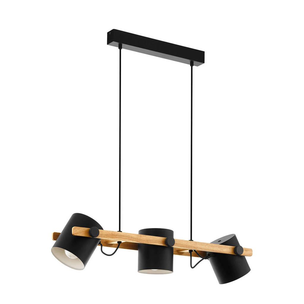 EGLO hanglamp Hornwood, Zwart, Cr?me