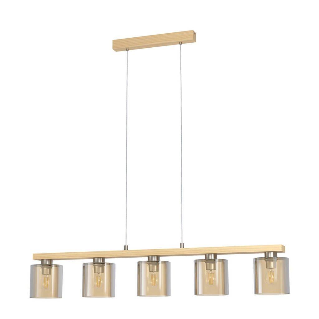 EGLO hanglamp Castralvo, nikkel-mat, bruin