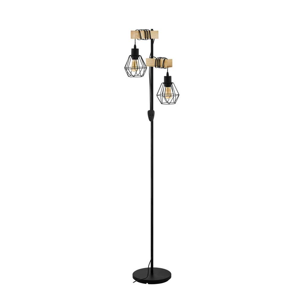 EGLO vloerlamp Townshend 5, Zwart, bruin