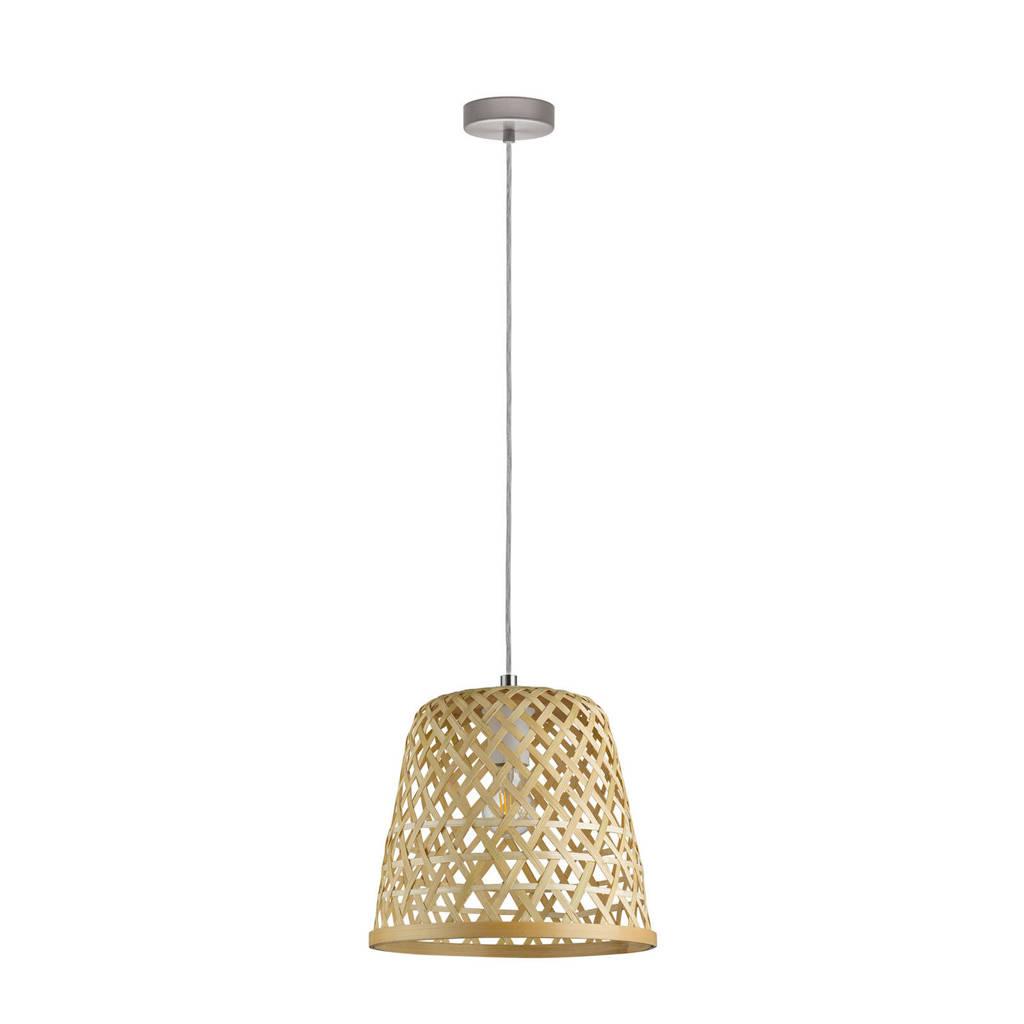 EGLO hanglamp Kirkcolm, nikkel-mat/natuur
