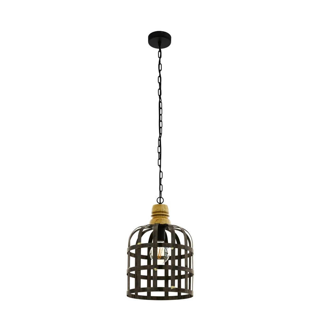 EGLO hanglamp Oldcastle (Ø31,5 cm), Zwart, bruin
