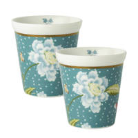 Laura Ashley mok (set van 2), Lichtblauw