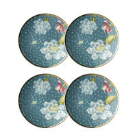 Laura Ashley petit four bord (ø12 cm) (set van 2), Lichtblauw