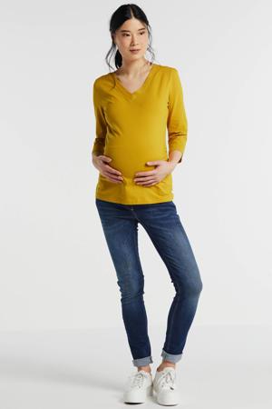 zwangerschapsshirt oker