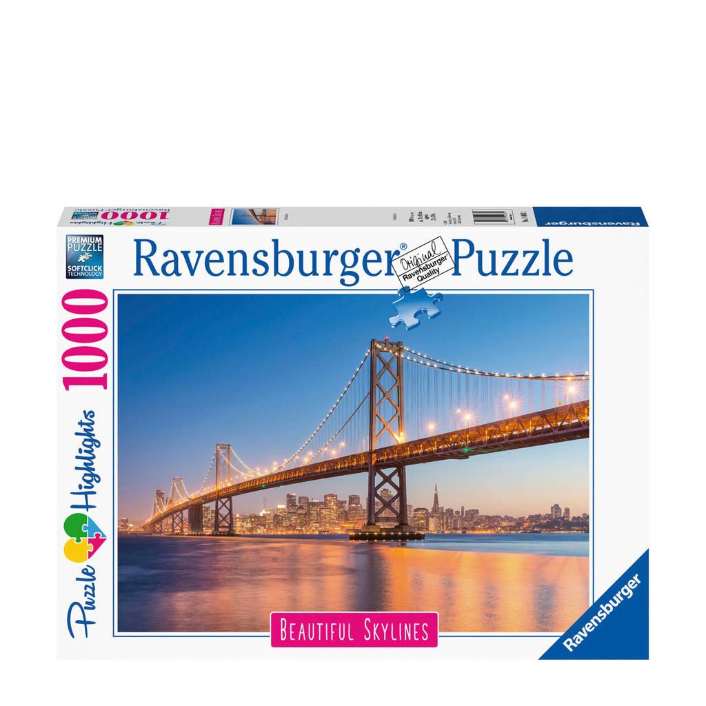 Ravensburger Beautiful Sky Lines San Fransisco  legpuzzel 1000 stukjes