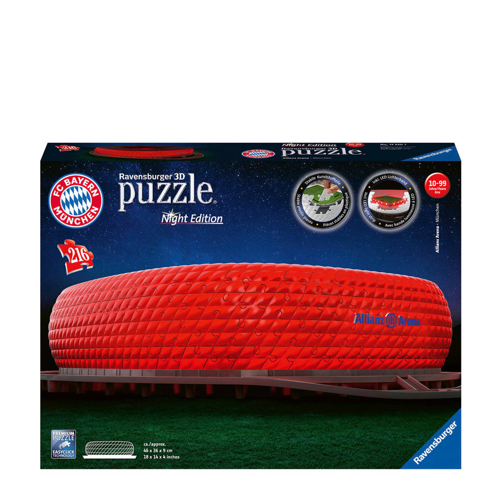 Ravensburger Alianz Arena night-edition  3D puzzel 216 stukjes