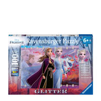 Disney Frozen 2 glitter  legpuzzel 100 stukjes