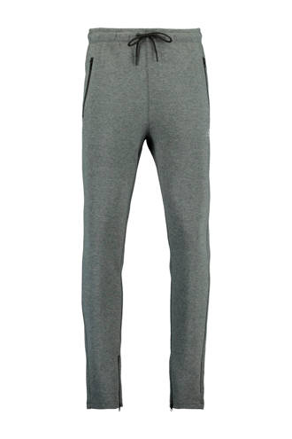 slim fit joggingbroek grijs