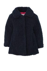 C&A Palomino imitatiebont winterjas donkerblauw, Donkerblauw