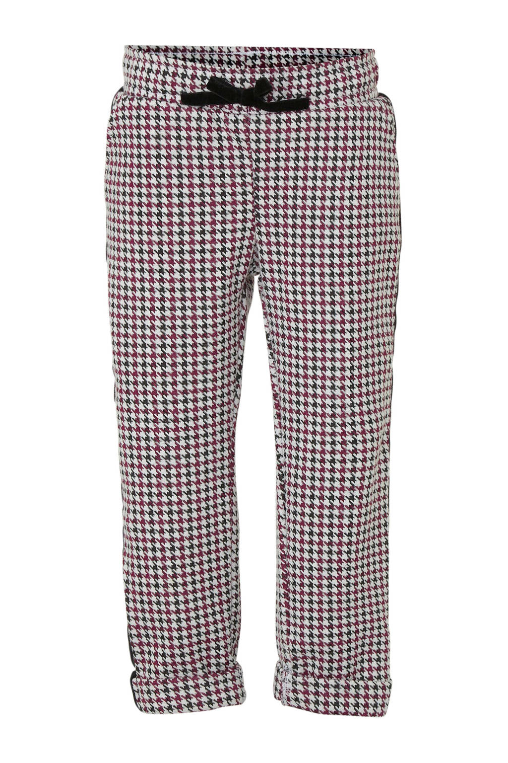 C&A Palomino broek met zijstreep wit/zwart/rood, Wit/zwart/rood