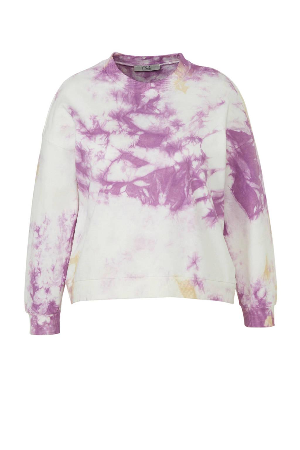 C&A XL Clockhouse tie-dye trui wit/paars, Wit/paars