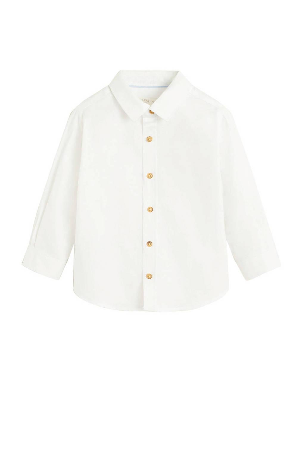 Mango Kids overhemd offwhite, Offwhite
