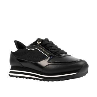 Retro Branded leren sneakers zwart