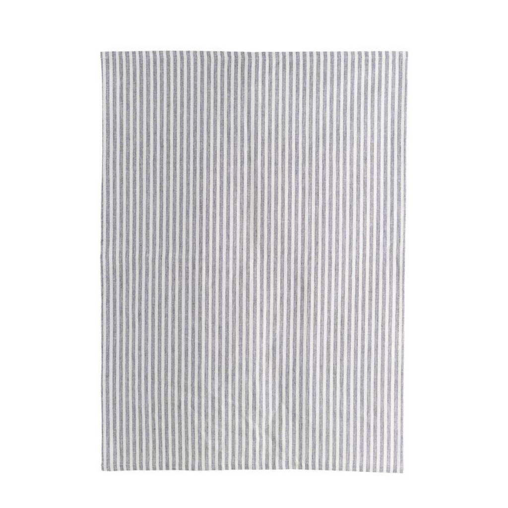 House Doctor Polly theedoek (50x70 cm), Grijs/wit